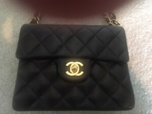 CHANEL quilted bag- with box duster and papers- excellent cond