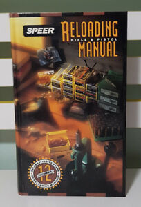 RELOADING MANUAL FOR RIFLE & PISTOL - NUMBER 12! HARDCOVER BOOK BY SPEER!