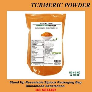 2 LB ORGANIC TURMERIC Root Powder 100% Pure Curcuma Longa TURMERICFree Ship