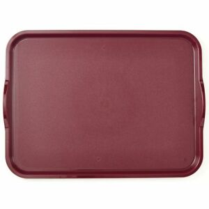 Cambro Camwear Nonskid Tray with Handles Dark Cranberry 20quot;L x 15quot;W $46.68