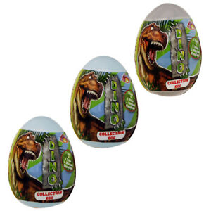 3 x DINOSAUR surprise egg with toy and candy- FREE US SHIPPING