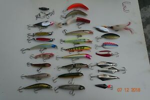 26Pc. Lot of Game Fishing Lures Both Saltwater and Fresh Many Are Basically New