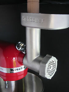 Heavy Duty Cast Stainless Steel Meat Grinder for Kitchenaid Mixer