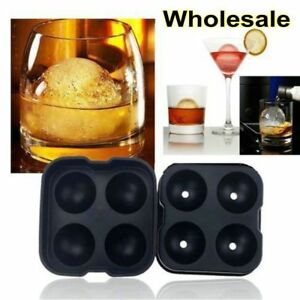 ICE Balls Maker Skull Shape Sphere Tray Mold Cube Whiskey Ball Cocktails Silicon
