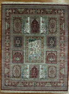 Handmade Rug 8x11 Multi Color High End Unique Design Silk Bakhtiari Rug