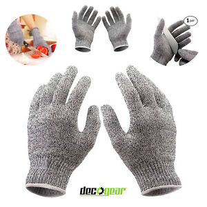 Kitchen Gloves for Cutting Food Cut Resistant Stretch Fit Safety Gloves Deco
