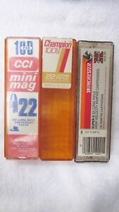 EMPTY CCI WINCHESTER FEDERAL .22 AMMO PLASTIC STORAGE BOXES CASES VINTAGE 22LR