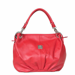 I Medici Dolce Soft Leather Shopper Tote Bag Womens Handbag in Red