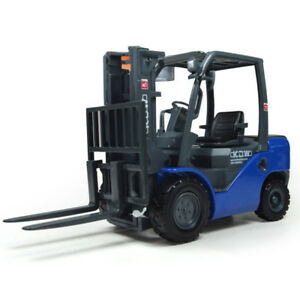 1:20 Forklift Truck Construction Vehicle Metal Diecast Model Toy Vehicle Blue