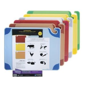 San Jamar Saf-T-Grip Plastic Cutting Board Set - 20