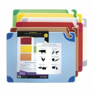San Jamar Saf-T-Grip Plastic Cutting Board Set - 24