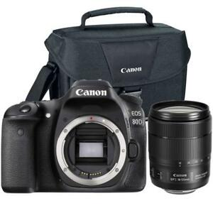 Canon EOS 80D DSLR Camera with 18-135mm USM Lens and Camera Case