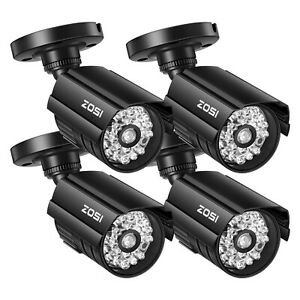 ZOSI 4 PACK Bullet Fake Dummy Surveillance Security Camera with IR Led Outdoor