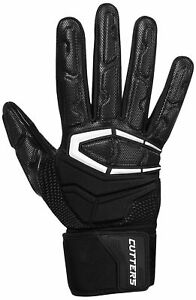 Cutters Adult The Force 3.0 Lineman Football Gloves - S932 - Black or White