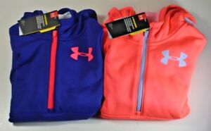 NWT GIRLS YOUTH UNDER ARMOUR STORM 14 ZIP HOODIE PULLOVER JACKET SZ S-L 2 COLOR