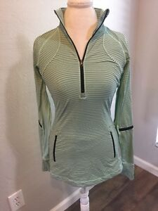 Lululemon Race With Grace Fresh Teal Pullover With Black Stripes 8