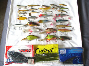 Lot of used fishing lures