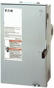 30 Amp Non Fusible Safety Switch NEMA 3R Outdoor Use In Painted Steel Enclosure