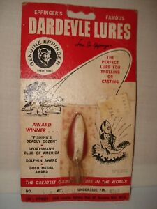 VINTAGE EPPINGER'S DARDEVLE LURES NO. 916 SPINNIE SPOON 14 OZ FISHING LURE NOS