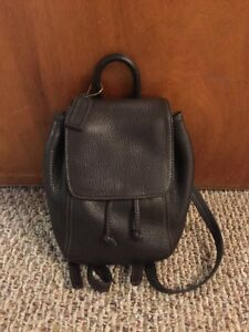 Vintage Coach 4907 Womens Leather Adjustable Backpack