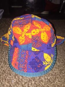 Vintage Patagonia Tropical Floral Pattern Duckbill 5-Panel Hat KIDS XS USA RARE