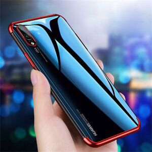 For Huawei P30 P20 P10 P9 P8 Lite 2017 Plating Silicone Hybrid Clear Case Cover