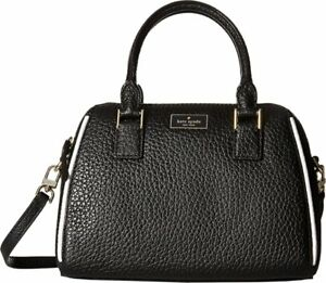 $680 NWT KATE SPADE WOMEN'S BLACK LEATHER PURSE PIPPA BAG SATCHEL CROSSBODY