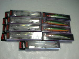 NIB ~ Lot of 9 Rapala Husky Jerk HJ-14 Fishing Lures