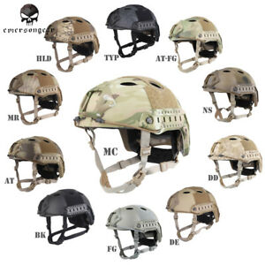 Emerson POM FAST Helmet PJ Type Tactical Military Airsoft Helmet