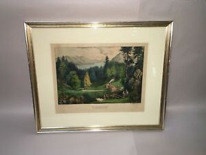 Original Currier amp; Ives Print A Clearing On The American Frontier $315.00