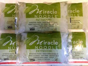 6 Pack Miracle Noodle FETTUCCINI Keto amp; Paleo Friendly PLANT BASED No Carb Pasta
