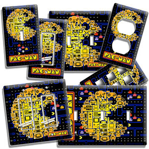VIDEO GAME THEME PAC MAN ARCADE BOARD LIGHT SWITCH WALL PLATE OUTLET ROOM DECOR
