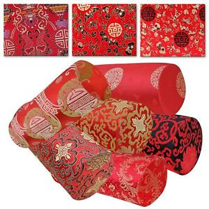 Bolster Cover*Chinese Rayon Brocade Neck Roll Long Tube Yoga Pillow Case*BL22