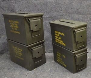 ( 4 Pack ) Combo 50 CalFat 50 AMMO CAN VERY GOOD CONDITION - FREE SHIP.
