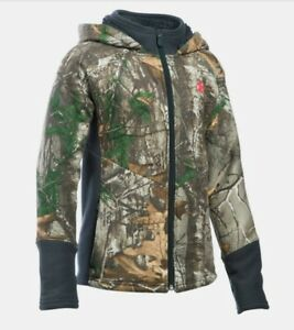 Under Armour Stealth Hunting Hoodie 1279564 Realtree Camo Girls Large NEW $100