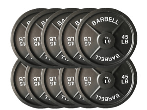 Fake Weights - Five Pairs 45lb  Barbell Plates