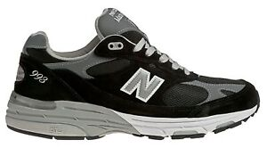 New Balance Men#x27;s Classic 993 Running Shoes Black with Grey