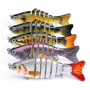 10cm Multi-joint Segment Swimbait Lures Fishing Bait Fish Lure Crankbait Hooks