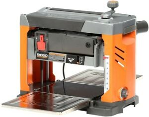 RIDGID Thickness Planer 13 in 120V 9000 RPM Corded 3-Blade Cutter Head Sof-Touch