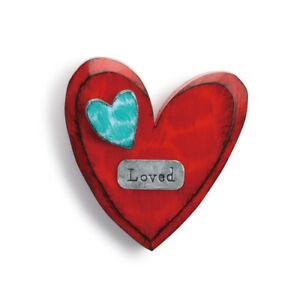 DEMDACO 6 Inches Height Loved Wall Heart Home Decor