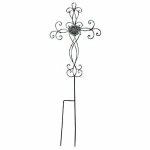 Filigree Medallion Cross Metal 31.25 Inch Metal Outdoor Garden Stake $35.64