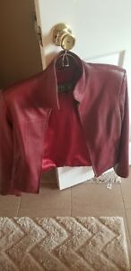 Versace Classic V2 Womens Leather Jacket size Medium fits 10-12