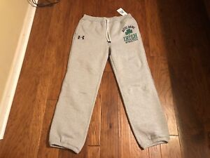 NWT Under Armour Cold Gear Notre Dame Fighting Irish Men's Sweat Pants XL