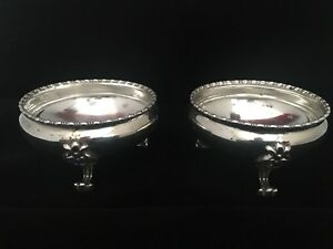 Antique Pair Of Sterling Silver Footed Salt & Pepper Cellars Goodnow & Jenks