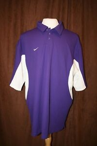 Mens Nike Purple White Dri-Fit Polyester SS Athletic Polo Shirt 3XL Big Tall