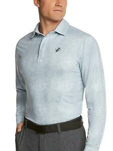 Men's Dry Fit Long Sleeve Polo Golf Shirt Moisture Wicking UV Protection