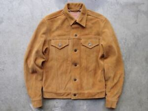 Sample Supreme x Levis Suede Trucker Jacket Size S Made in USA Coat Jean