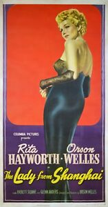 THE LADY FROM SHANGHAI - ORIGINAL US 3SH POSTER - VERY RARE