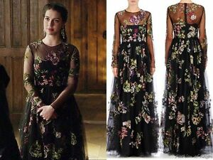 Valentino Collection Embroidered black tulle dress price was 18000 EURO