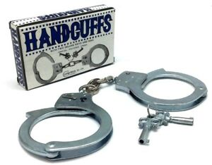 Compass Play Toy Handcuffs Cowboy Police Costume Accessories Key Polished Finish